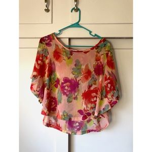 Floral Printed Top by Delia's